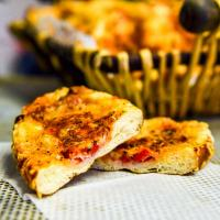 Brezelstick With Ham, Roasted Red Pepper & Cheese